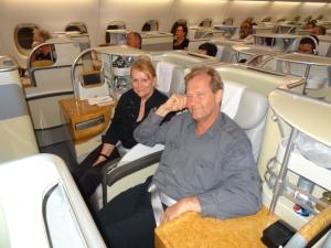 A380 sitting
