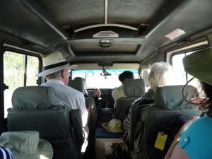 Inside jeep