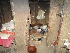 Inside Masai hut